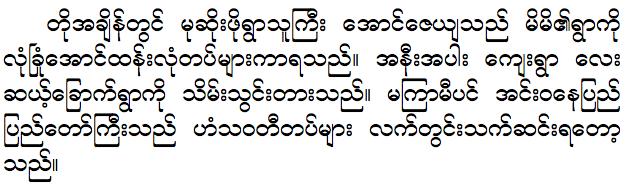 Burmesefonts