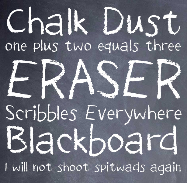 chalk-dust